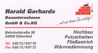 Bauunternehmung Harald Gerhards GmbH & Co.KG in Gillenfeld