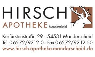 Logo Hirsch Apotheke Manderscheid